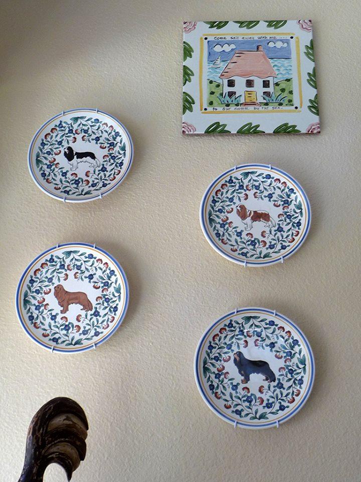 Cavalier King Charles Spaniel plates